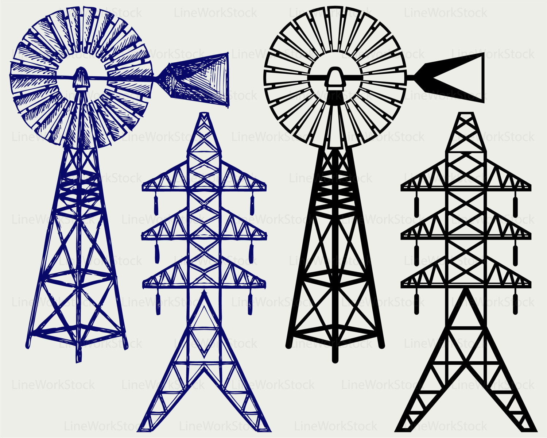 Windmill clipart electric Svgwindmill electric item? svgpower Windmill