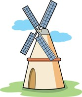 Windmill clipart european #13