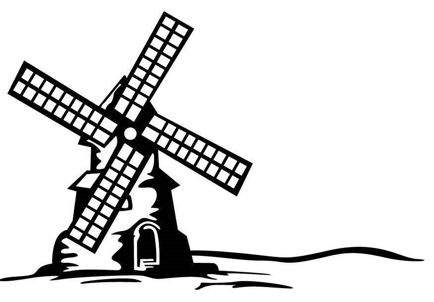Windmill clipart holland windmill #1
