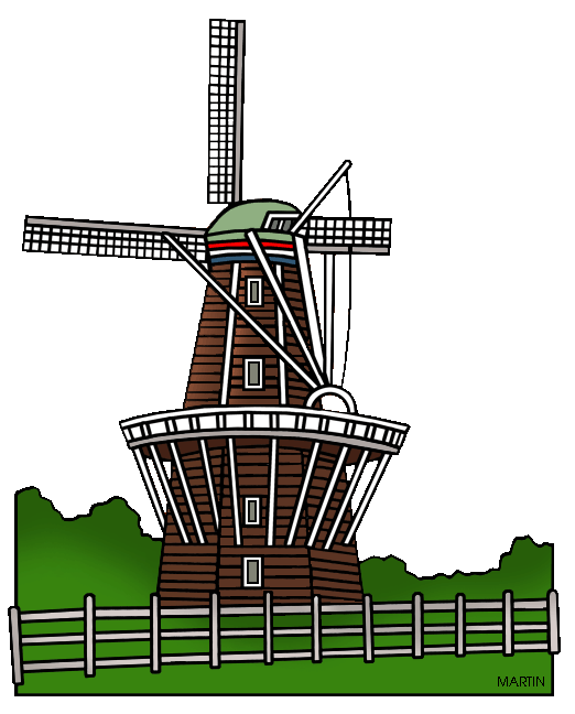 Windmill clipart holland windmill #8