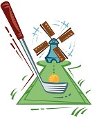 Windmill clipart mini golf #12