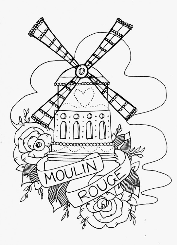 Windmill clipart moulin rouge #14