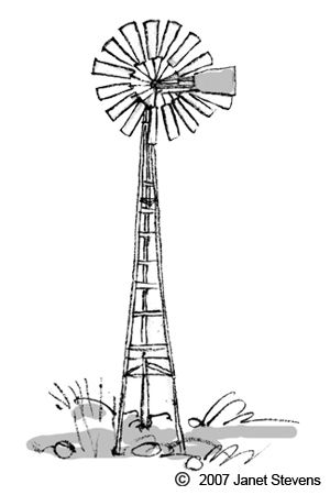 Windmill clipart old fashioned #4