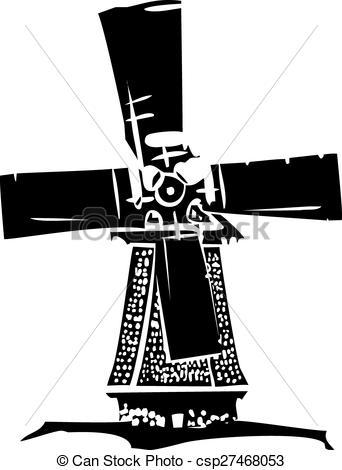 Windmill clipart old style #3