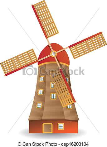 Windmill clipart old style Windmill csp16203104 of of old