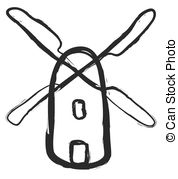 Windmill clipart outline Cartoon  doodle windmill Clipart