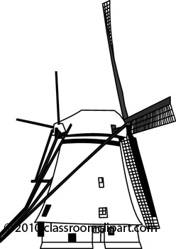 Windmill clipart outline Windmill : Architecture jpg Clipart