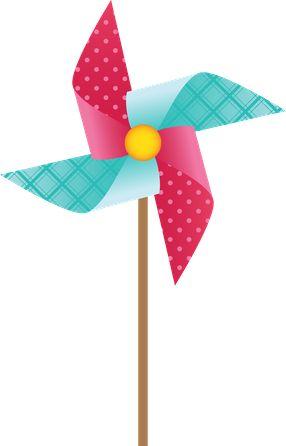 Windmill clipart paper windmill Minus Pinwheels · FestaDrawings illustrations
