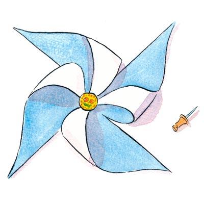 Windmill clipart paper windmill A a of decorative a