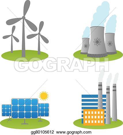 Windmill clipart power plant Solar gg80105612 power plants Vector