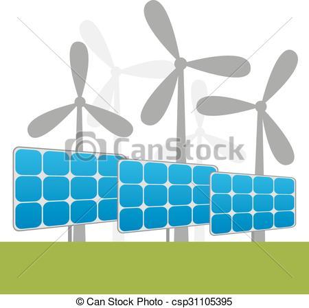 Windmill clipart power plant Windmills power Vectors of plants