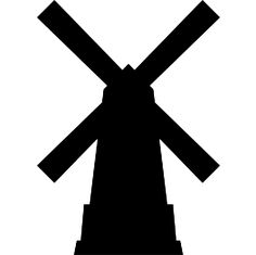 Windmill clipart silhouette #4