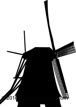 Windmill clipart silhouette #6