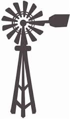 Windmill clipart silhouette #2