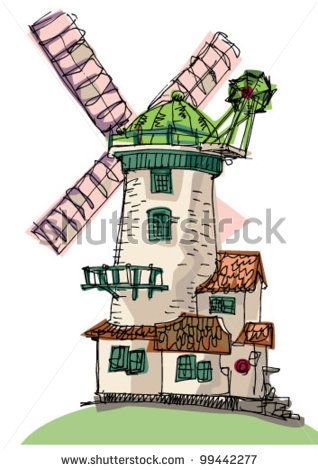 Windmill clipart stretch Best Windmill 30 99442277 on