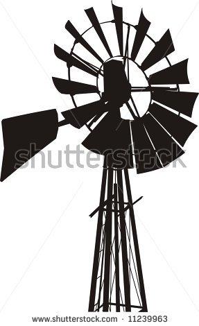 Windmill clipart stretch #2