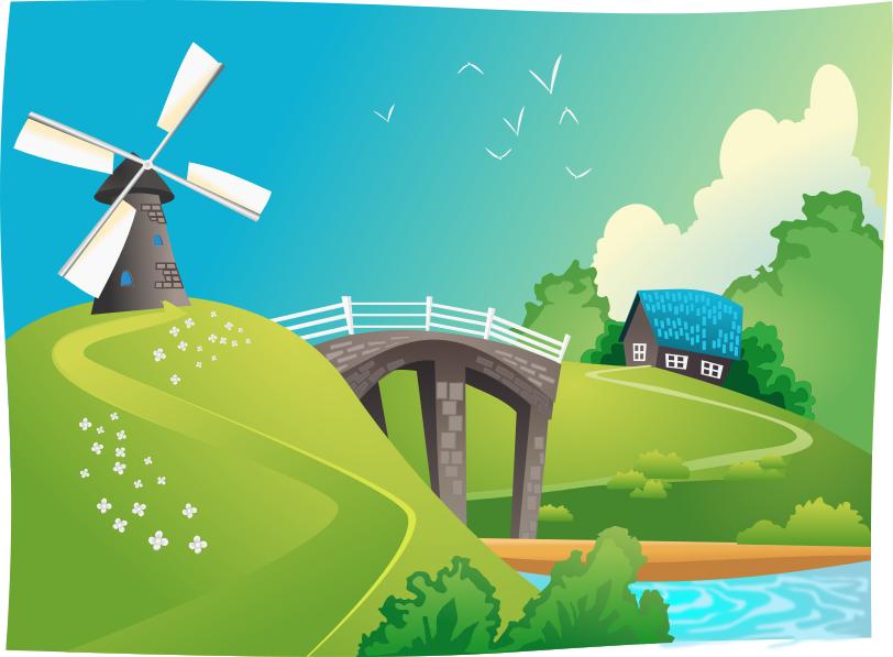 Windmill clipart village Landscape Download Windmill Windmill Art