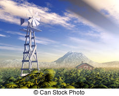 Windmill clipart western Illustration and windmill generated