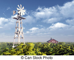 Windmill clipart western With Stock Clip 3D Western