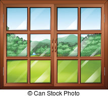 Window clipart moon EPS Clipart  146 and