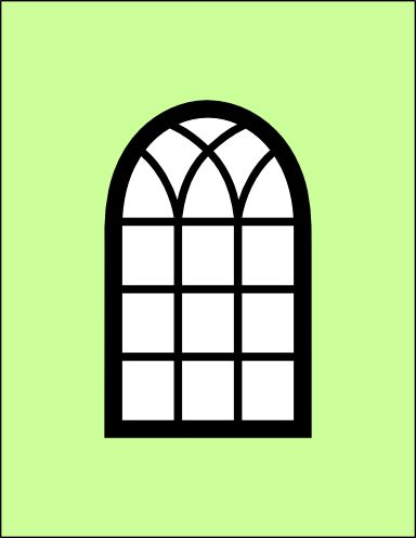 Window clipart arched window Images window frame 20 card