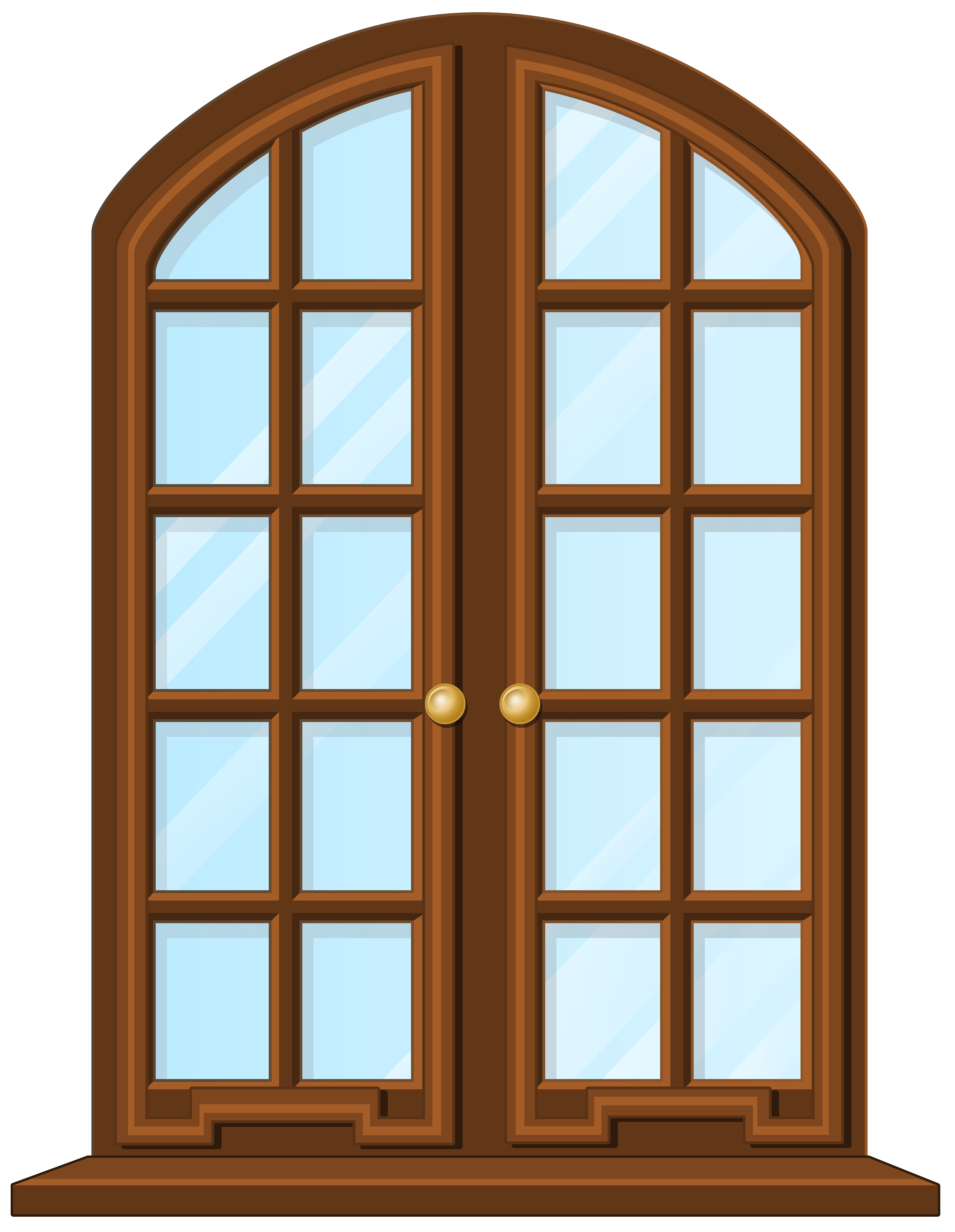 Window clipart arched window Arch Brown Window Clip Window