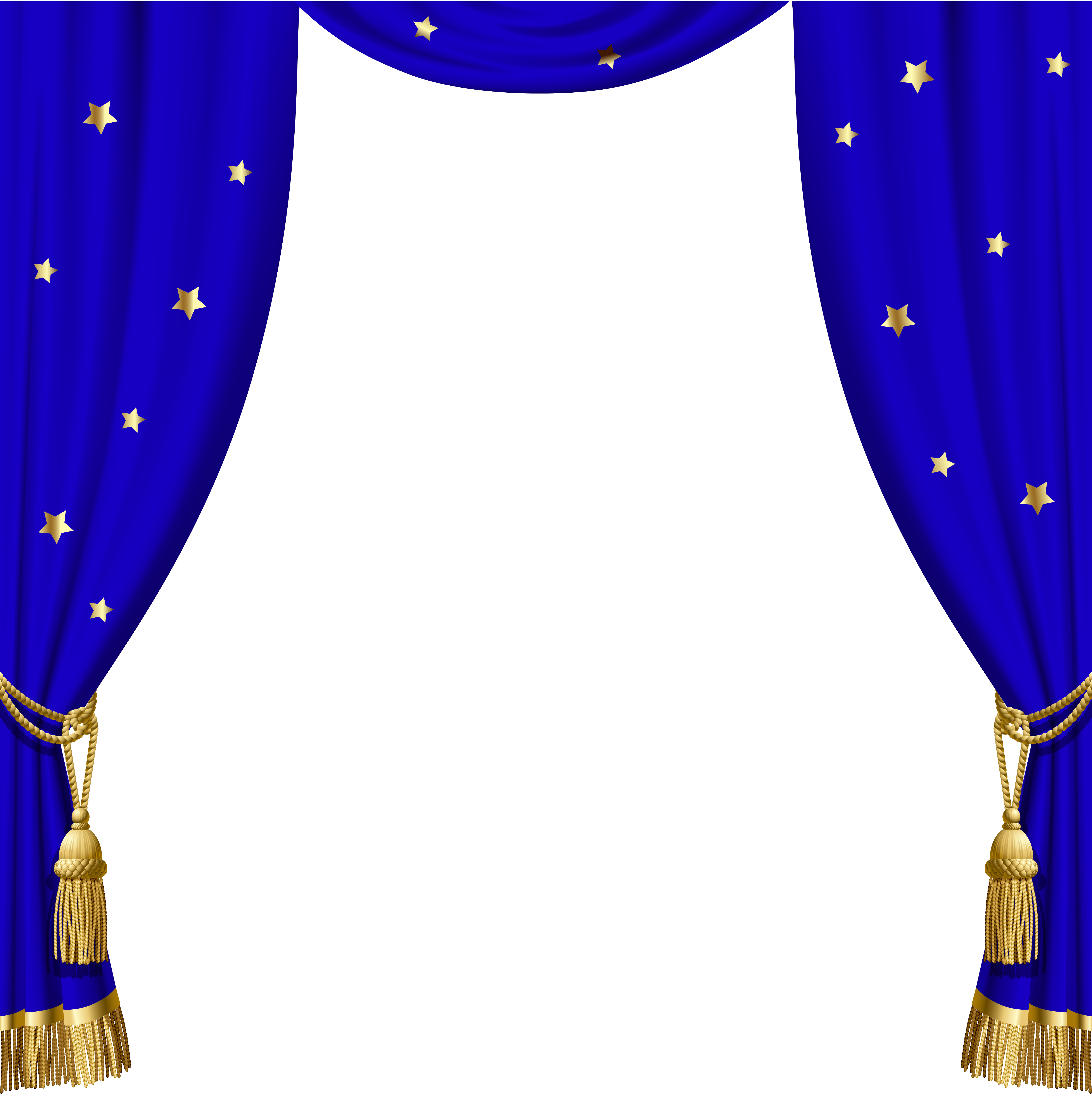 Curtain clipart blue curtain PNG  Stars Gallery Transparent