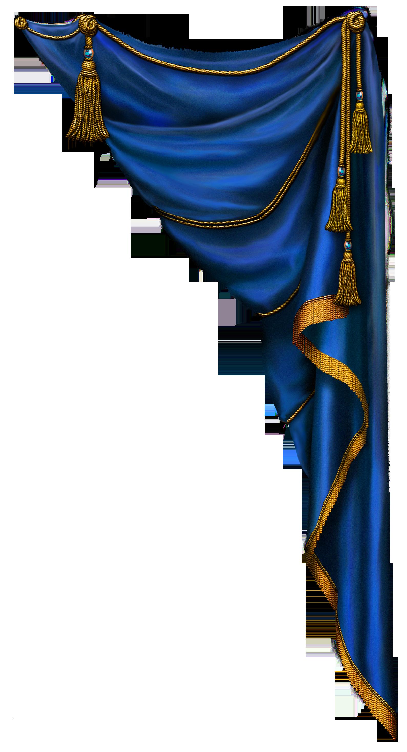 Curtain clipart blue curtain Curtain Blue BORDERS Pinterest PNG