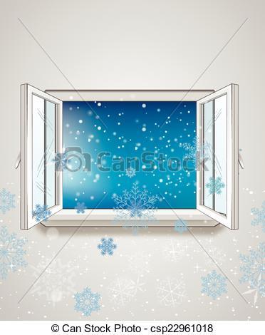 Window clipart cold outside Window Vector Clip Vector window
