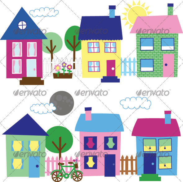 Window clipart flower bed That Neighborhood elements GraphicRiver 6