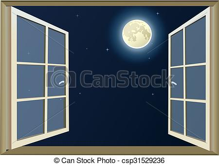 Window clipart moon At Moon the csp31529236