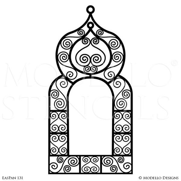 Window clipart moroccan Windows Painted Shape Long Furniture