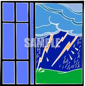 Window clipart outside window Of a Clip Art Image: