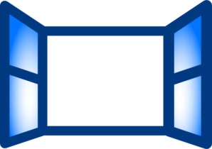 Window clipart rectangle Window Open Clker at com