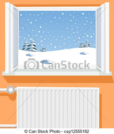 Window clipart scene Through through Vector of window