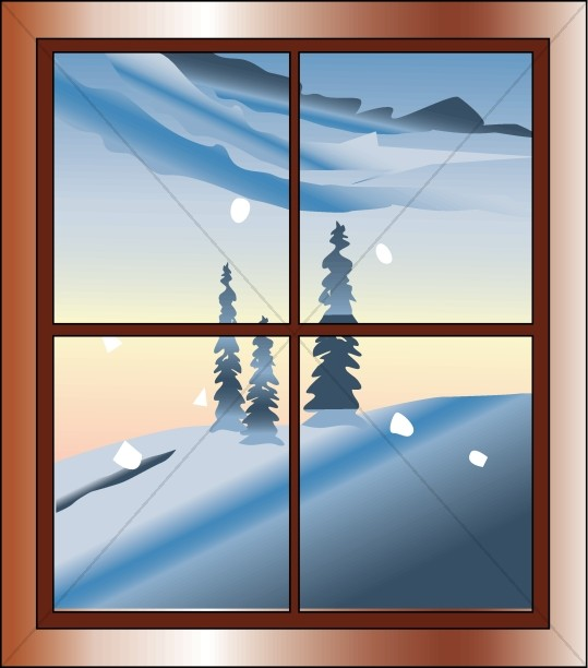 Window clipart scene From Clipart Window Traditional Winter
