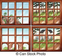 Window clipart scene Scene Windowpane Vector Clipart windows