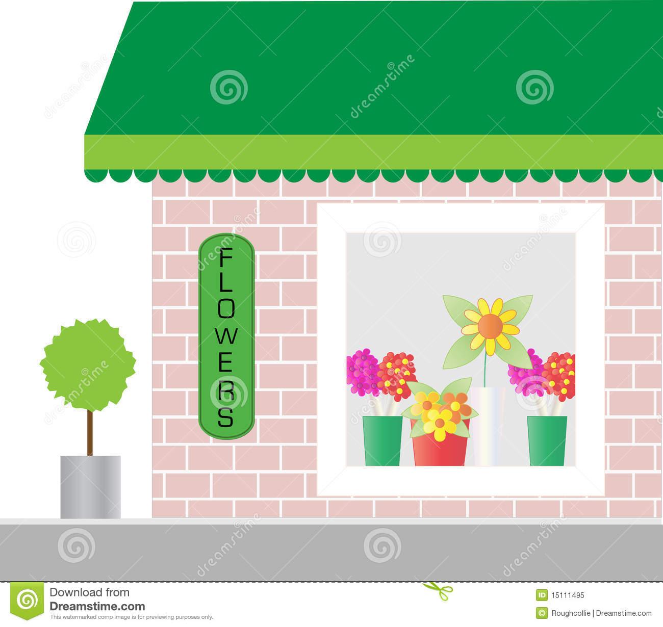 Window clipart shop window  Clipart Flower Window Shop