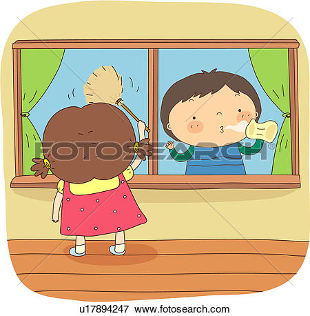Window clipart washing windows Windows window clipart Cleaning the