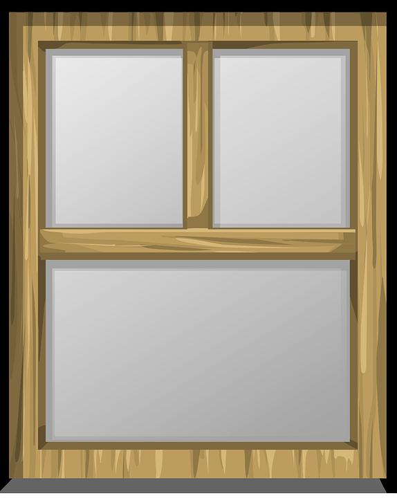 Window clipart wooden window Free Window Art Clip