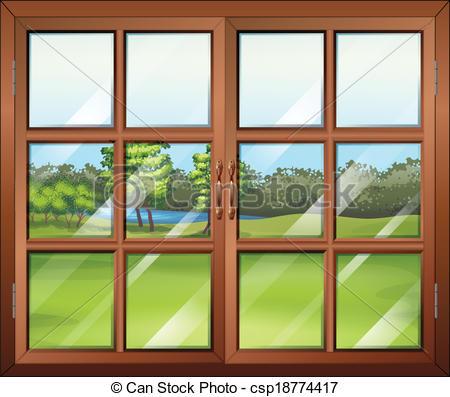 Window clipart wooden window Art closed window window glass