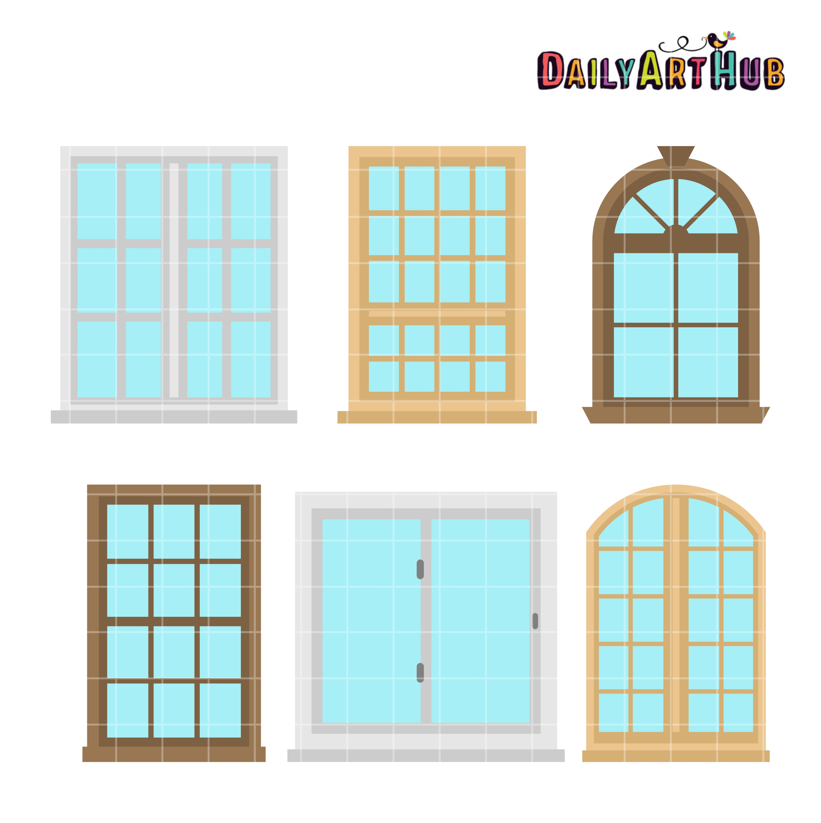 Windows clipart house windows Hub Windows Clip Set Art