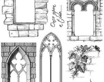 Windows clipart medieval castle Stamps WINDOWS Castle rubber unmounted