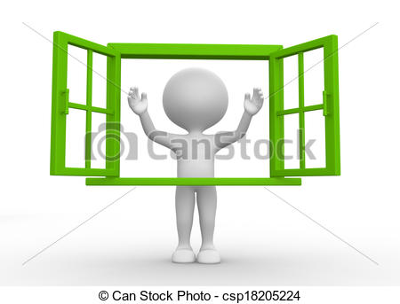 Windows clipart opened With open and Window people