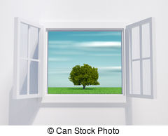 Windows clipart opened Render Royalty Illustrations Open is