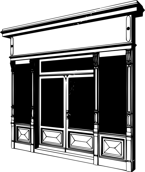 Windows clipart shop window Two 2 com Clker With