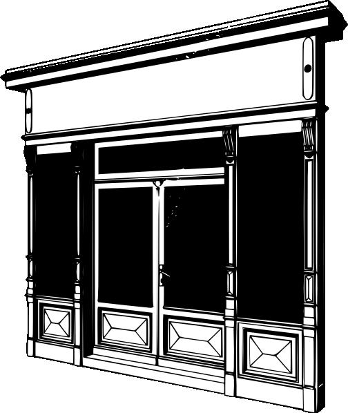 Window clipart shop window Two com Show Art Download