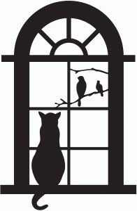Windows clipart silhouette Silhouettes the Pinterest Silhouette Cat