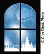 Windows clipart snowy Looking window window of Snowy