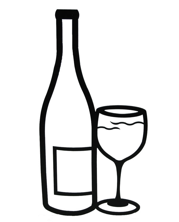 Alcohol clipart black and white #12